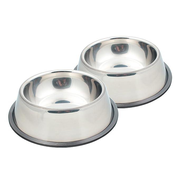 7 opinioni per SAVORI Ciotole per Cani, 1200ml Ciotole per Animali Domestici in Acciaio Inox
