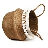 BlueMake Boho Woven Seagrass Belly Basket for