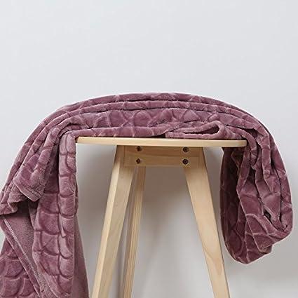 Color sólido de verano yoga mantas delgadas solo toallas frazadas coral aire acondicionado gofrado MANTA Manta
