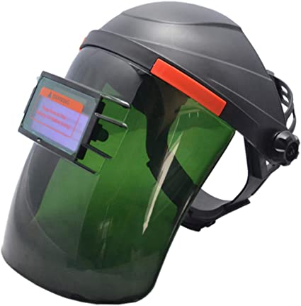 Solar Powered Welding Helmets Auto Darkening Mask Simple Black Face Protection