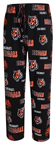 Cincinnati Bengals NFL with Logo Scatter Pattern Men's Pajama Pants 2XL 44-46 ()