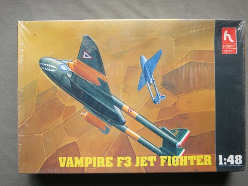 Vampire F3 Jet Fighter 1/48 Scale By Hobby Craft