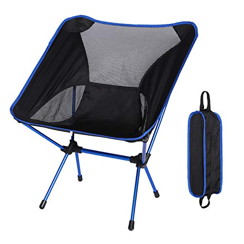Akarden Portable Folding Camping Chair for Hiking, Picnic, Beach, Travel with Carry Bag