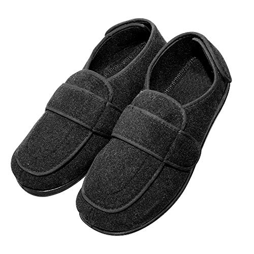 cad39be1102e Cozy Ankle Men s Extra Wide Adjustable Slippers Edema