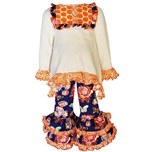 AnnLoren Toddler Girls 2/3T Boutique Autumn Floral and
