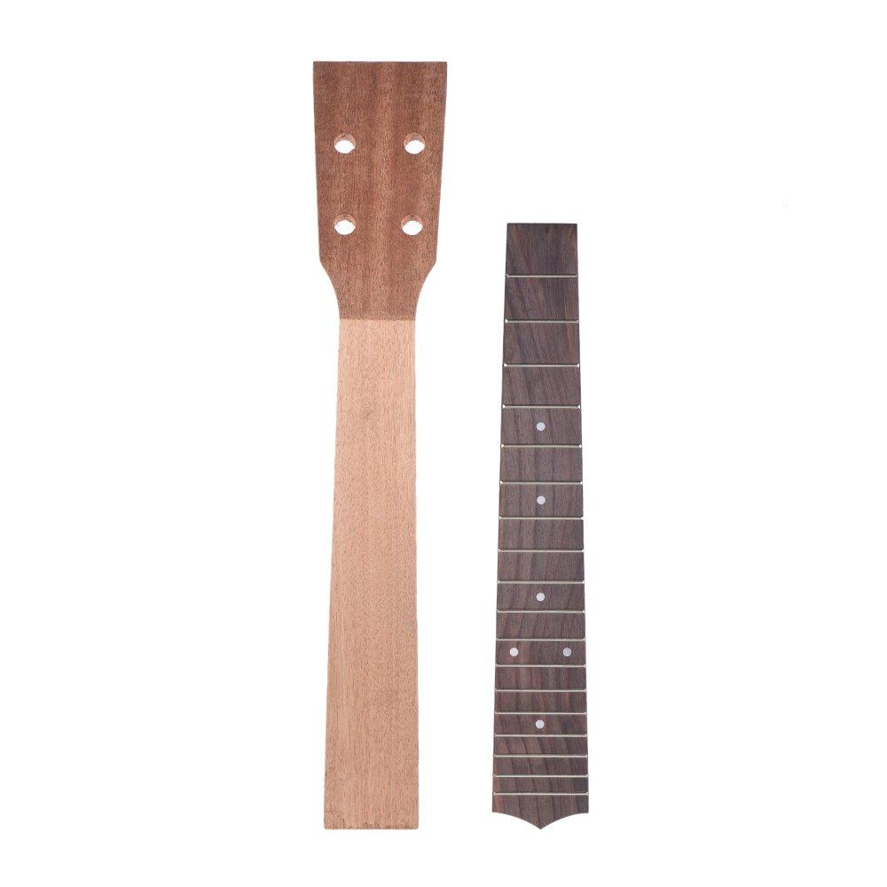 ammoon 26 Inch Tenor Ukelele Maple Wood Neck & Rosewood Fretboard Fingerboard Set Hawaiian Guitar Luthier DIY Repalcement