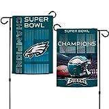 "Philadelphia Eagles Super Bowl LII 52 Champions Garden Flag - 12"" X 18"""