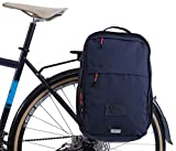 Two Wheel Gear - Pannier Backpack Convertible - 2 in 1 Commuting and Travel Bike Bag (Military Waxed Canvas - Navy)