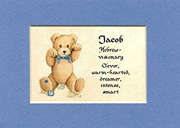Amazon personalized baby name jacob nursery wall decor personalized baby name jacob nursery wall decor keepsake gift made in the usa negle Gallery