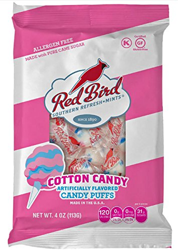 d Puff Candy, 6 Individual, 4 Ounce Bags, Party Favors, Birthday (Cotton Candy Favors)