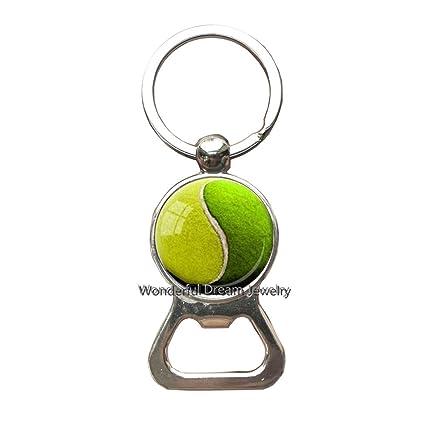 Yin Yang PU348 - Llavero de bola de tenis para amante del ...
