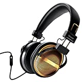 iSound DGHP-5533 HM-270 Stereo Headphones with Inline Mic & Volume - Gold