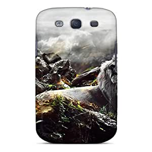 Premium Jungle Lion Heavy-duty Protection Case For Galaxy S3
