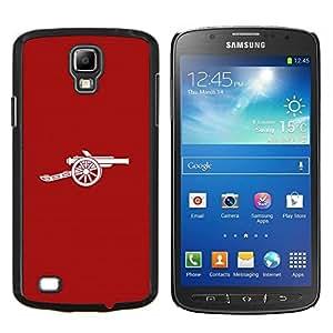 KLONGSHOP // Cubierta de piel con cierre a presión Shell trasero duro de goma Protección Caso - CAÑÓN MINIMALISTA - Samsung Galaxy S4 Active i9295 //