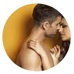 alfombrilla de ratón escena romántica de la pareja besándose - ronda - 20cm