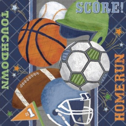 Score! Oopsy Daisy too Score Sports Locker Wall Art - 21x21'' for circo sports and score bedrooms
