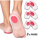 AOXIANG Gel Heel Cups Plantar Fasciitis Inserts - Silicone Heel Cup Pads