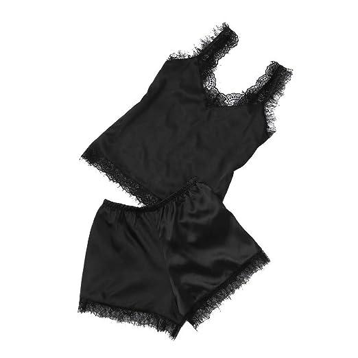 492bba617 Rcool Camisones Batas y Kimonos Camisones Mujer Camisones Verano Camisones  Tallas Grandes Mujer, 2 Piezas de lencería de Encaje Babydoll camisón Ropa  de ...