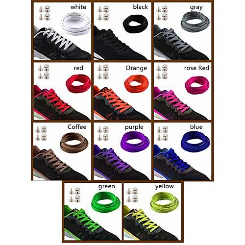 Ric Para 1 Rojo Nailon yy0201r Calzado Púrpura Elásticos Sólido Exterior Par Balight Cordones Color De YXOwTndYPq