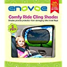 Car Sun Shade (2 Pack) - Premium Baby Car Window Shades are best for blocking over 97% of Harmful UV Rays while protecting your child from sunlight and glare - LIFETIME WARRANTY
