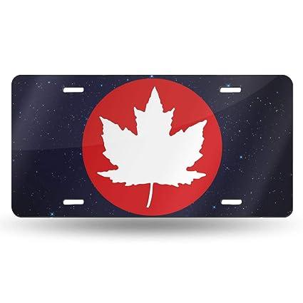 Amazon Com Wi8q 1 Canada Maple Leaf Car Tag Decorative