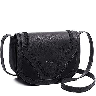 AMELIE GALANTI Classy Cross Body Bag for Women Vintage Shoulder Saddle Bag with Flap Top