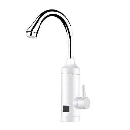 220V Eléctrico Calentador Instantáneo Grifo de Suministro 360 ° Swive Agua Caliente y Fría Grifo de