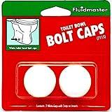 Fluidmaster 7115 White Toilet Bolt Caps
