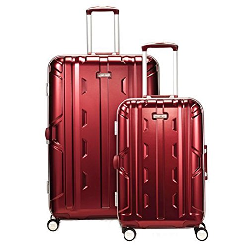 Samsonite Cruisair DLX 2 Piece Set of 21 & 26 Spinner (One Size, Burgundy) Samsonite Aluminum Locks