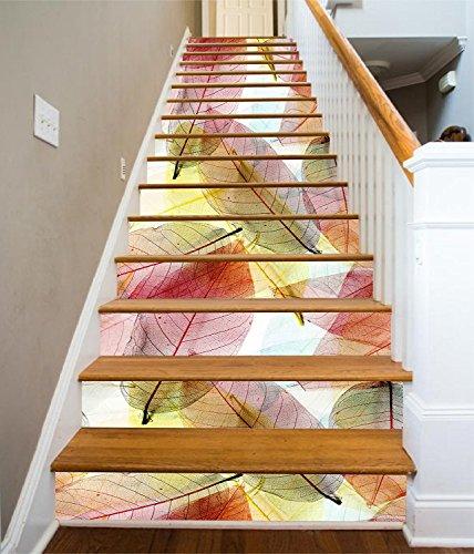 Texture Stair Risers Decoration Photo Mural Vinyl Decal Wallpaper Murals (13x H:18cm x W:94cm (7