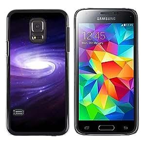Paccase / Dura PC Caso Funda Carcasa de Protección para - Purple Blue Galaxy Space Cluster Spiraling Stars - Samsung Galaxy S5 Mini, SM-G800, NOT S5 REGULAR!