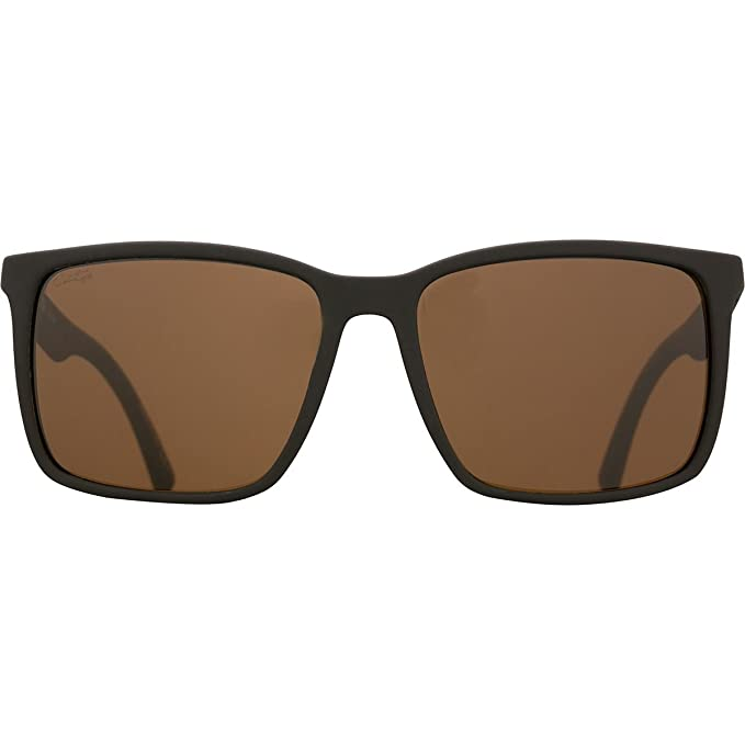 Von Zipper Lesmore Wildlife Polarized Sunglasses-Black Soft Satin-Bronze