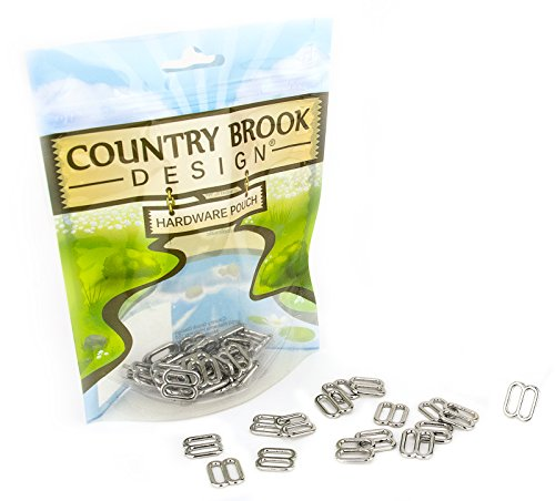 Cat Collar Hardware - 50 - Country Brook Design 3/8 Inch Metal Round Wide-Mouth Lite Weight Triglides