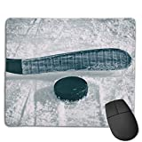 Non-Slip Mouse Pad Rubber Mousepad Ice Hockey Print Gaming Mouse Pad 18 * 22 cm