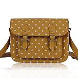 Ladies Girl's Gorgeous Quality College Satchel Polka Dot Spotty Cross Body Bags School A4