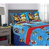 Nickelodeon Juego de sábanas, Blue/Red Design, 4 Piece Full Size, 1