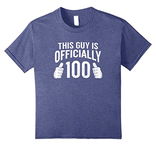 Kids This Guy Is 100 Funny 100th Birthday T-Shirt Cool Guys Gift 8 Heather Blue