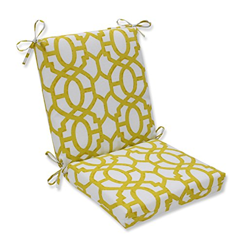 Pillow Perfect Outdoor/Indoor Nunu Geo Wasabi Squared Corners Chair Cushion (Wash Wasabi Hand)