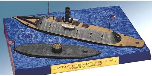 Lindberg - LND77257 - Civil War Ironclad Ships: USS Monitor (8-1/4