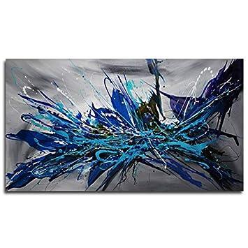 Amazon Com Faicai Art Dark Blue Abstract Wall Art Canvas
