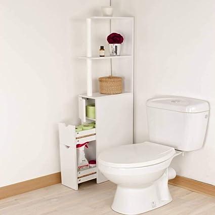 Meuble de rangement WC/toilettes ou salle de bains blanc