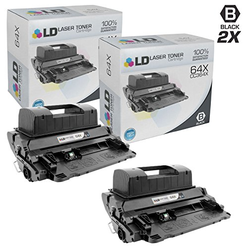 LD Compatible Replacement for HP 64X / CC364X High Yield Black Toner Cartridges (2 Pack) for LaserJet P4015dn, P4015n, P4015tn, P4015x, P4515n, P4515tn, P4515x & P4515xm (Laserjet P4015n Hp Printer)