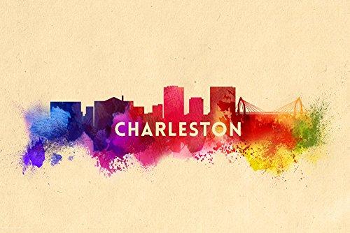 Charleston Gallery - Charleston, South Carolina - Skyline Abstract (16x24 Giclee Gallery Print, Wall Decor Travel Poster)