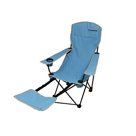 sedia campeggio pieghevole con poggiapiedi