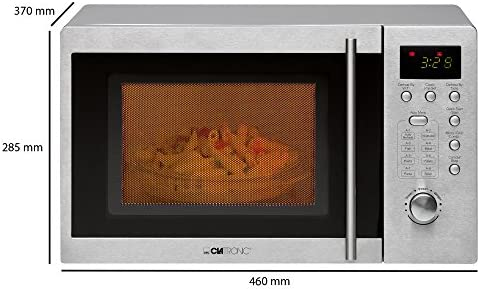 Clatronic MWG 778 U-Microondas con grill (20 litros), plateado, 800 W, Color Blanco