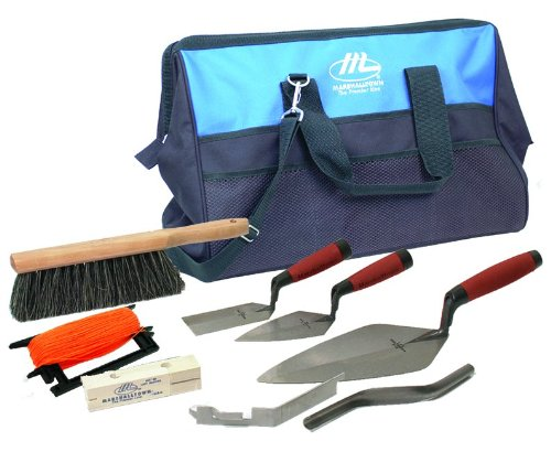 MARSHALLTOWN The Premier Line BTK2 Bricklayer Apprentice Tool Kit with 20-Inch Nylon Tool Bag