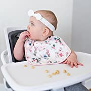 Graced Soft Luxuries 2 Pack Softest Baby Muslin Bibs Made From Bamboo + Cotton by (Floral Garden)