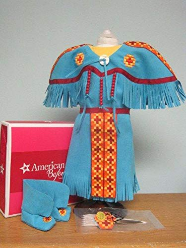 American Girl Doll Kaya Pow Wow Dress for dolls Blue Turquoise (doll not included)