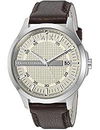 Armani Exchange AX2100 Reloj marrón de cuarzo con visualización analógica para hombre