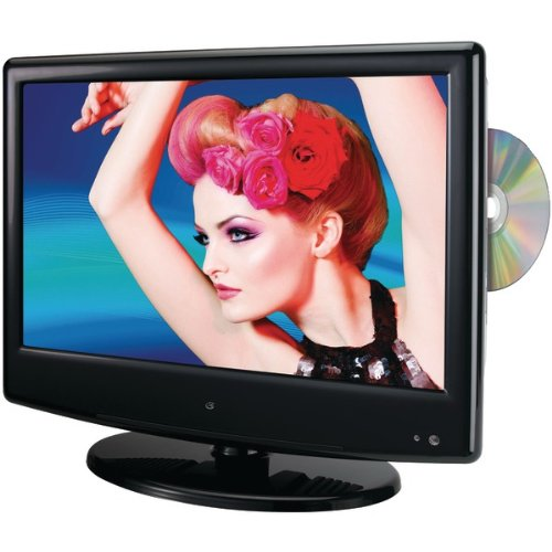 GPX TDE1380B 13.3-Inch LED TV with Built-In DVD Player (Black) by GPX